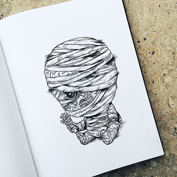 baby-terrors-iconic-horror-monsters-illustrations-alex-solis-1