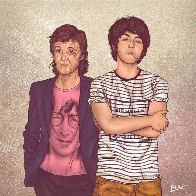Старый и молодой на одной картинке