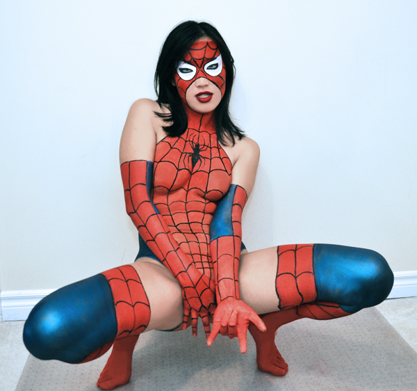 mexican spidergirl bodypaint
