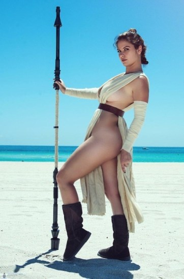 Sexy Revealing Rey by Danielle Pavluck