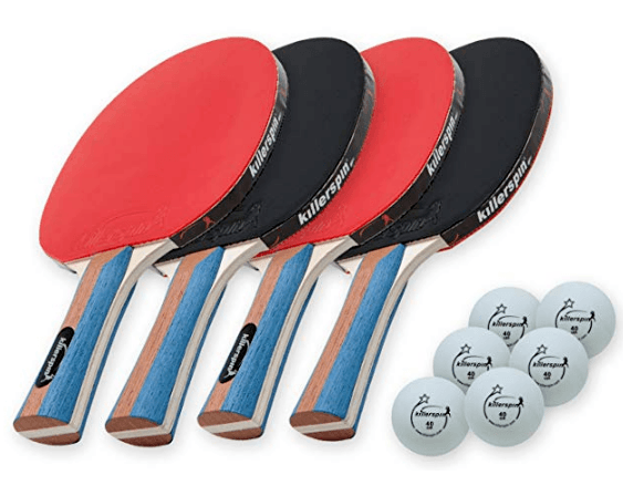 Killerspin JET SET 4 Ping Pong Paddle Set Review