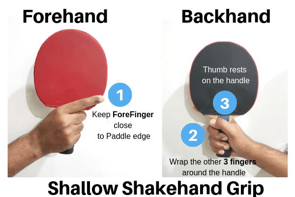 shallow shakehand grip tutorial