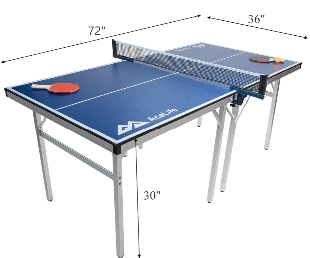 Acelife 60'' Mid Compact Ping Pong Table