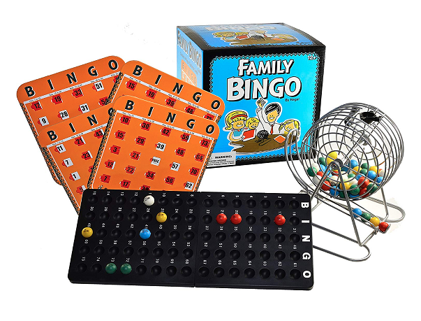 Regal Games Family Bingo Cage Set With Shutter Slide Cards
