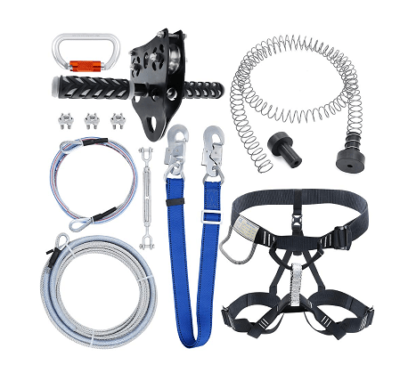 Zixar 98 Feet Zip Line Kit for Kids and Adults