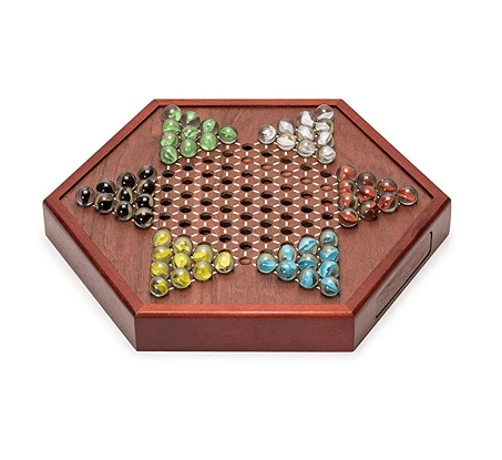 Chinese Checkers Square Wooden Game Set