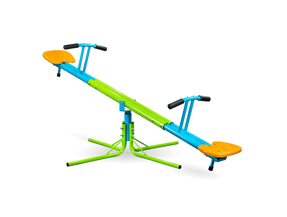 Pure Fun Heavy Duty 360 Kids Swivel Seesaw Indoor/Outdoor