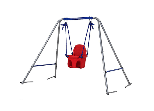 BestValue Go Toddler Swing Seat A-Frame Metal Swing Play Set