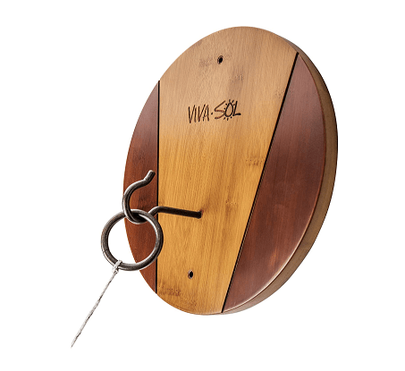 Viva Sol Premium All-Wood Walnut Finish Hook And Ring Target Game