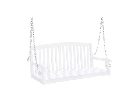 Best Choice Products 48-inch 3-Seater Wooden Curved Back Hanging Porch Swing