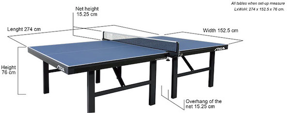 How Tall Is A Ping Pong Table Brokeasshome Com
