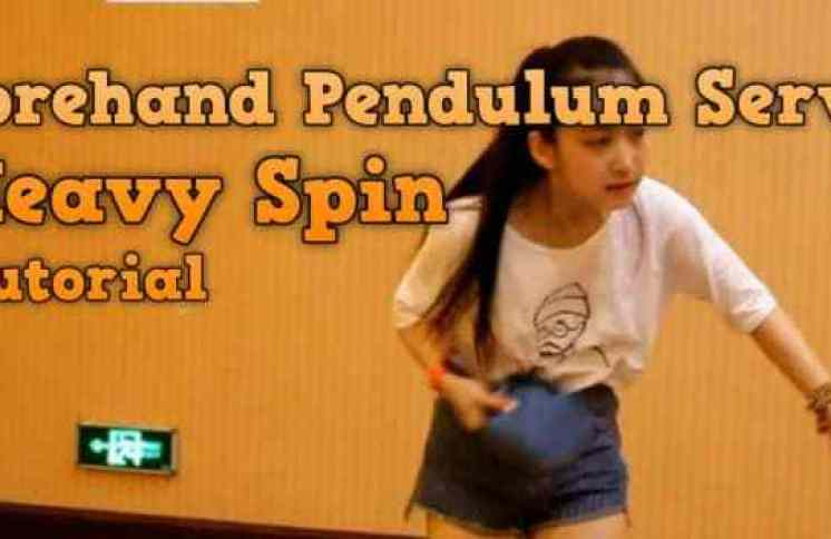 pendulum serve table tennis
