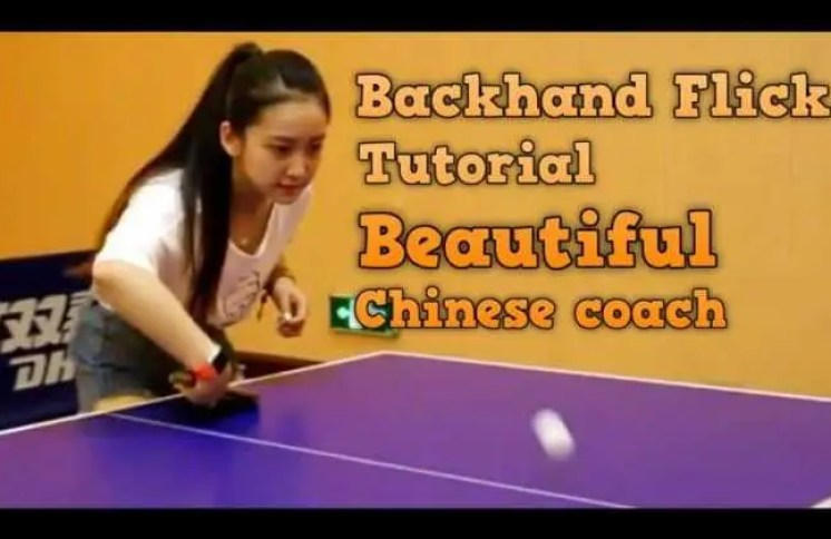 backhand flick technique table tennis