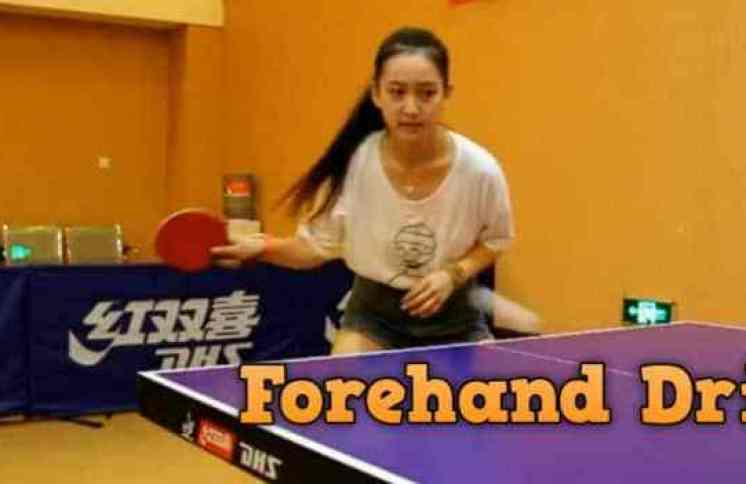 Forehand Drive Table Tennis
