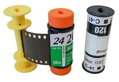 35mm Film in 120 Adapter