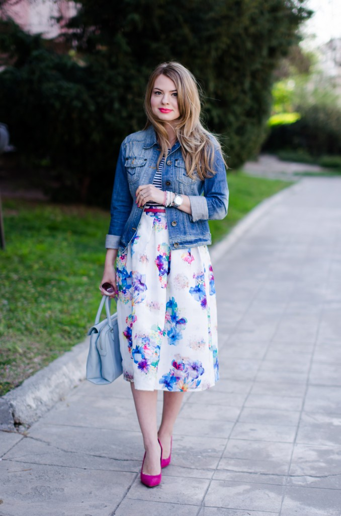 Favorite Prints Floral And Stripes Pink WishPink Wish