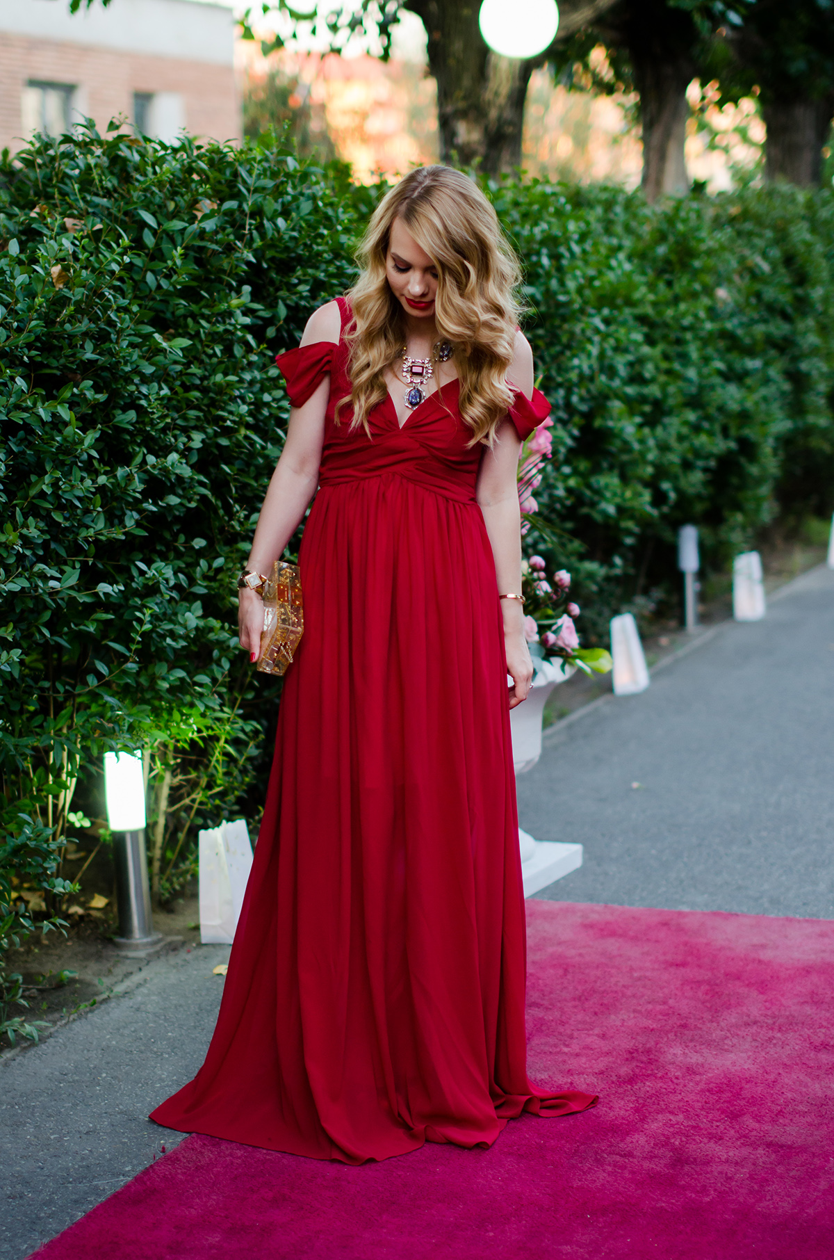 Wedding Outfit The Red Maxi Dress Pink WishPink Wish