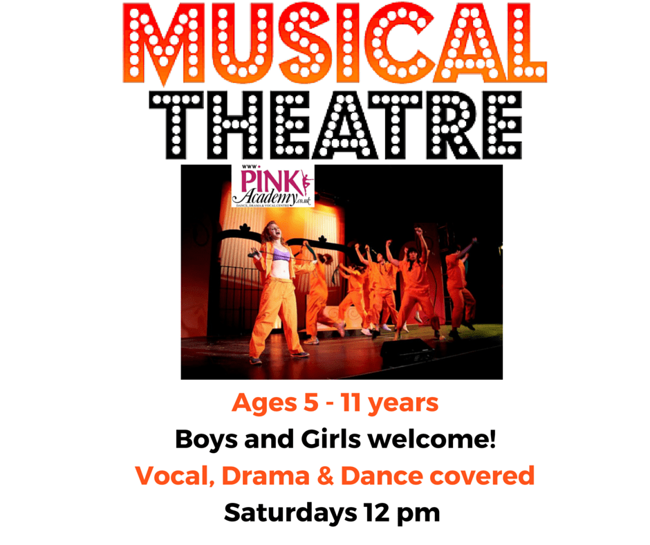 Ages 5 - 11 yearsBoys and Girls welcome!Vocal, Drama & Dance covered