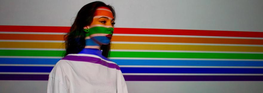 woman rainbow queer youth