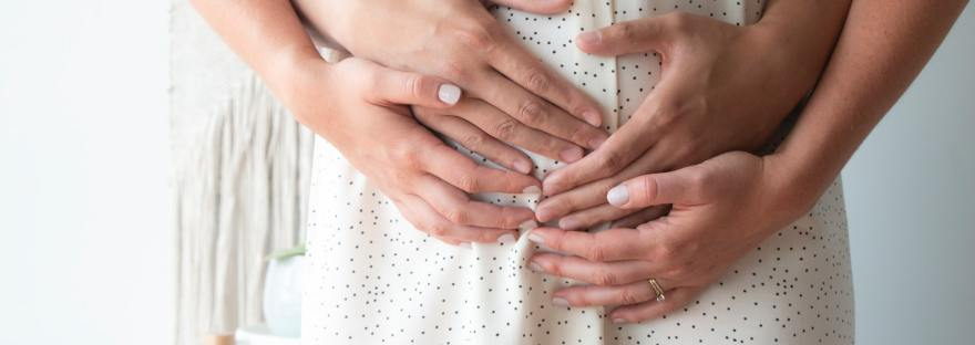 family couple pregnant assisted reproductive treatment