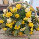 LARGE ROSE BASKET – choice of colours
