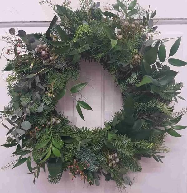 natral christmas wreath