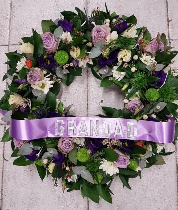 Rose Wreath with Lettering