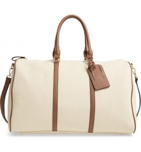Lacie Faux Leather Duffle Bag - SOLE SOCIETY