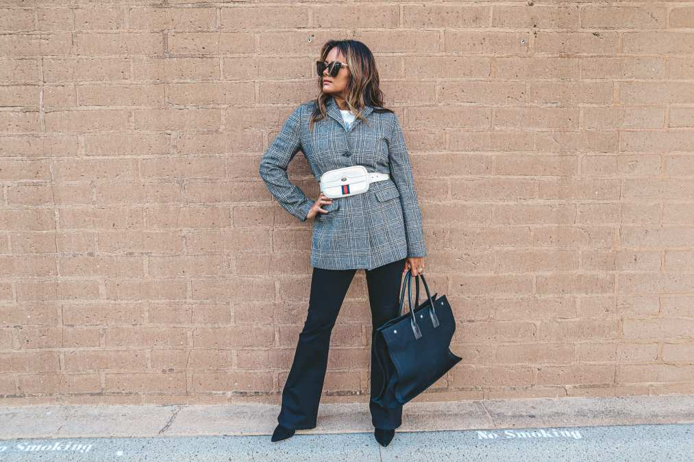 Plaid Blazer that will add Drama in your look