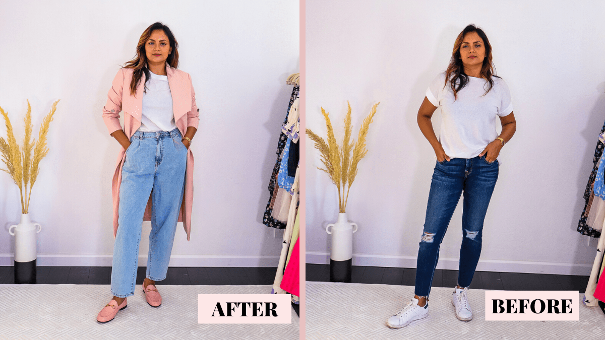 How To Look Chic In Jeans & T-Shirt