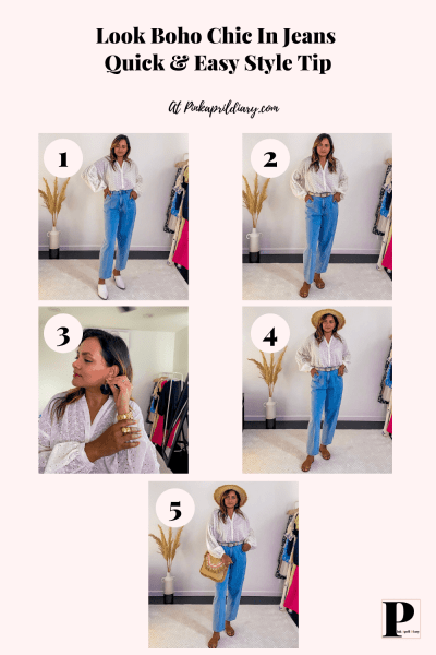 Look Chic In Jeans & T-Shirt-3