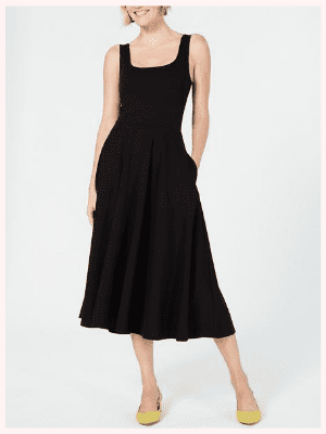 Alfani Tank Fit & Flare Midi Dress