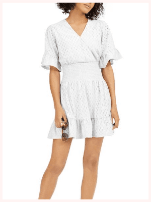 Michael Kors Eyelet Smocked Dress