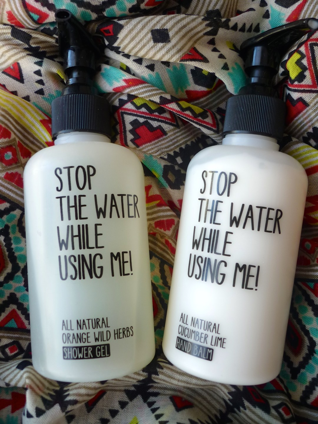 Gel douche et crème pour les mains Stop The Water While Using Me