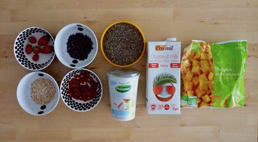Pudding de graines de chia et fruits frais