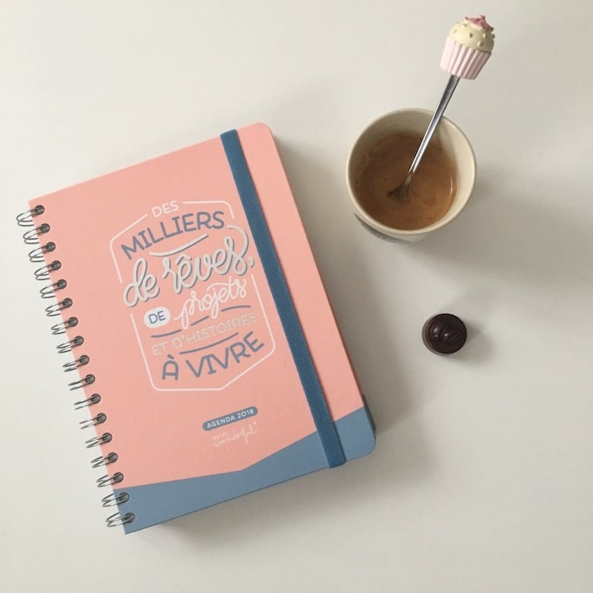 Mon agenda 2018 Mr Wonderful