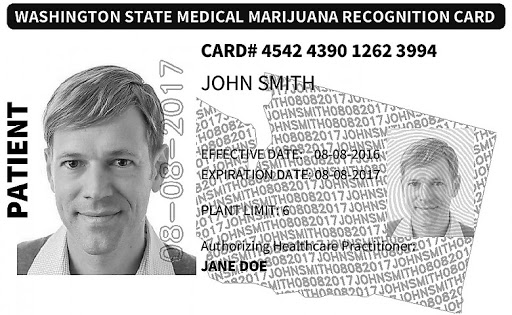 Washington state ID MMJ card