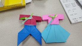 The finished product from Hanbok Origami