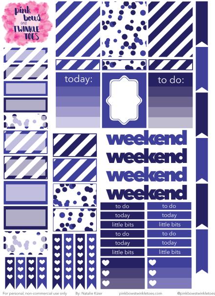 PBTT July Functional Sticker Sheet