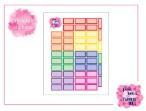 PBTT Classic Multi Scallop Half Box Sticker Sheet
