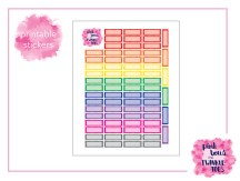 PBTT Classic Multi Scallop Quarter Box Sticker Sheet