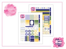 PBTT Doodle Dot Floral Sticker Kit Two Page