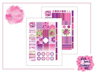 PBTT Horizontal Berry Bliss Sticker Kit Two Page
