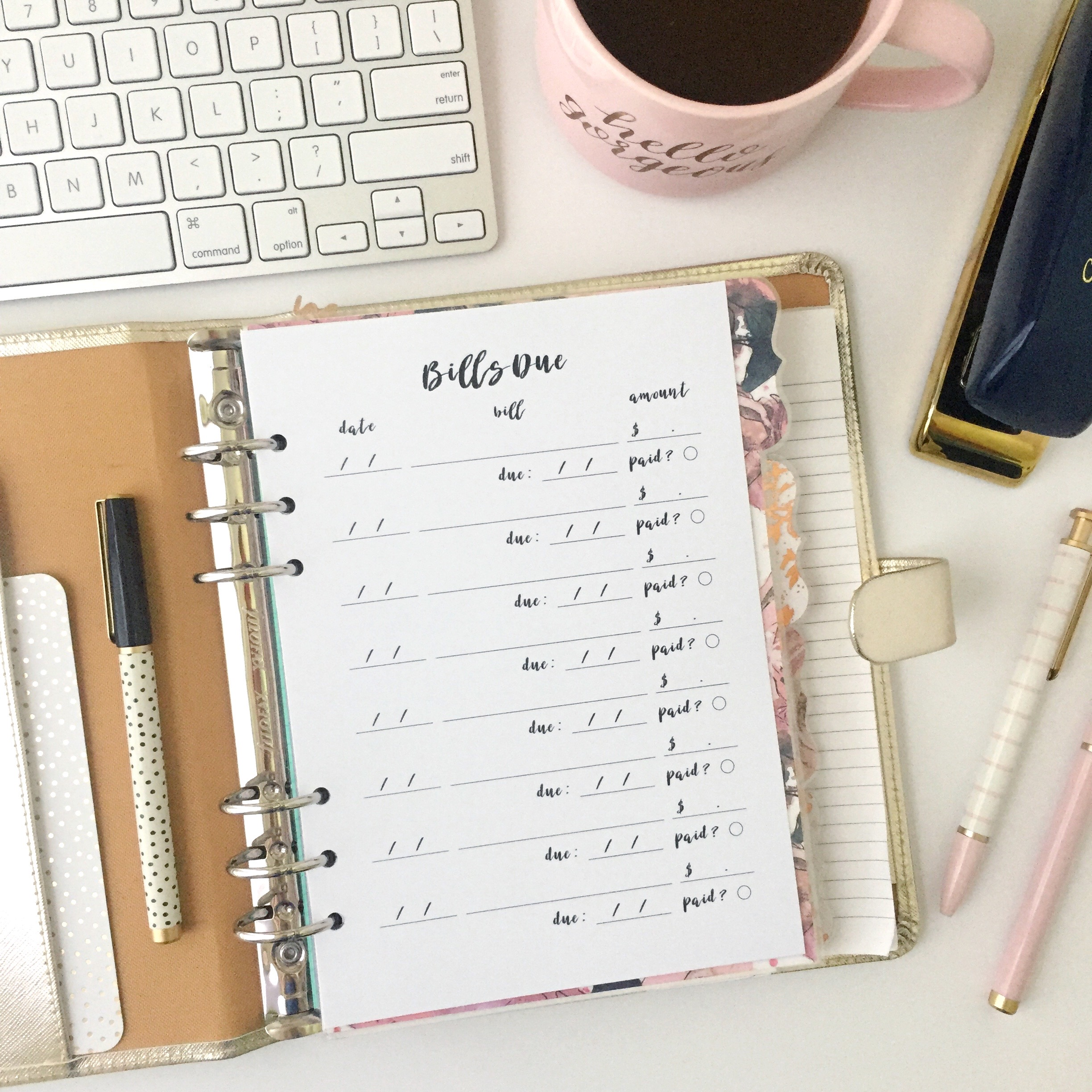 Due date tracker