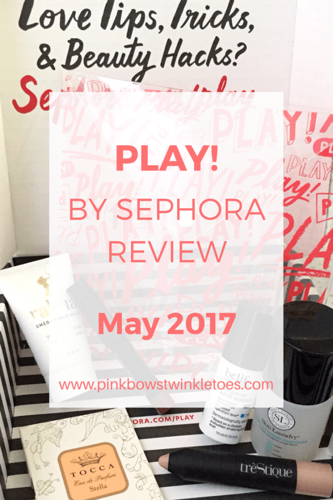 PLAY! by Sephora Review: May 2017 - Pink Bows & Twinkle Toes