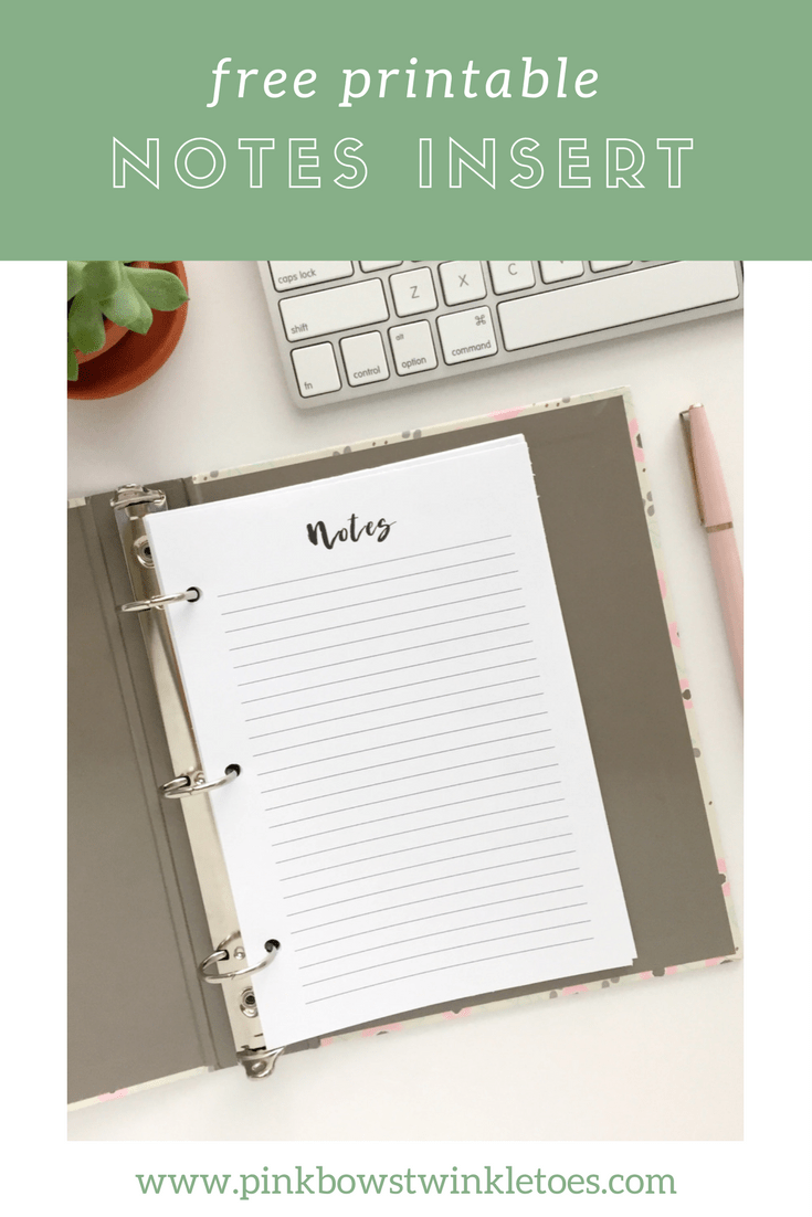 photograph regarding Printable Notes Page identify Notes Website page: Free of charge Printable Planner Incorporate - Crimson Bows