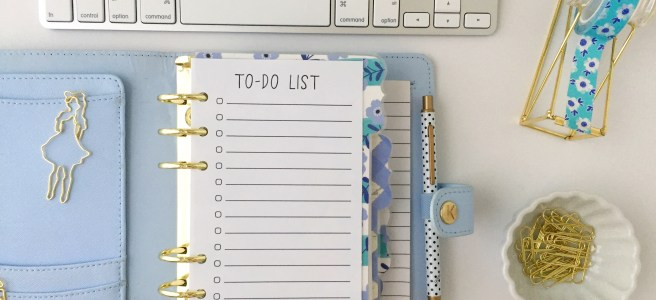 Personal Size To-Do List: Free Planner Printable - Pink Bows & Twinkle Toes