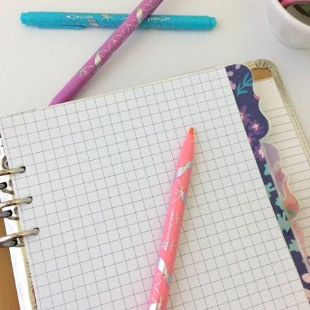 Graph Paper Insert: Free A5 Planner Printable - Pink Bows & Twinkle Toes