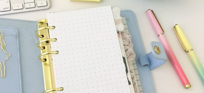 Dot Grid Insert: Free Personal Size Planner Printable - Pink Bows & Twinkle Toes