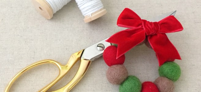 Easy DIY: Felt Ball Wreath Ornaments - Pink Bows & Twinkle Toes